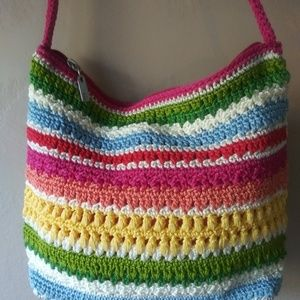 The SAK Knit Jute Bag